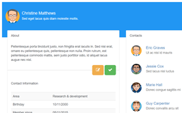Bootstrap snippet social network profile info