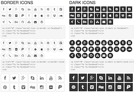 Bootstrap snippet Social icons