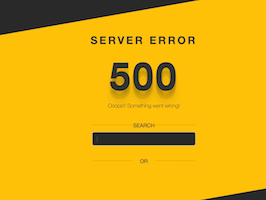 Bootstrap Server error 500 bootdey example