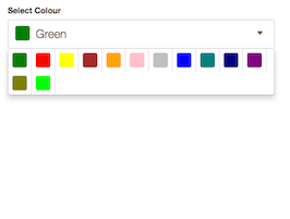 Bootstrap snippet color picker