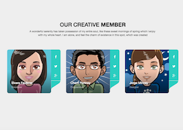 Bootstrap snippet Creative Member Area