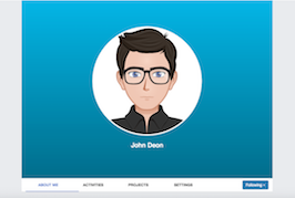 Bootstrap snippets. Social network profile with panels