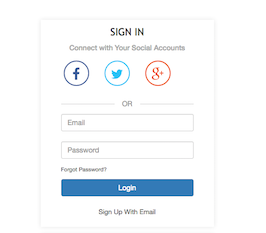 Bootstrap login box modal example