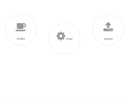 Bootstrap Rounded animated icons example