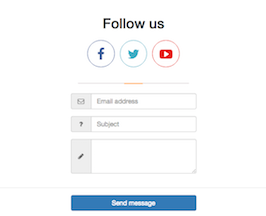 Bootstrap Contact Form example