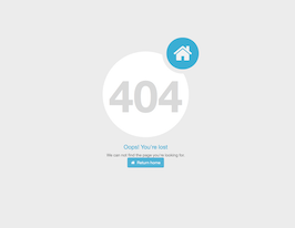 Bootstrap 404 error page option example