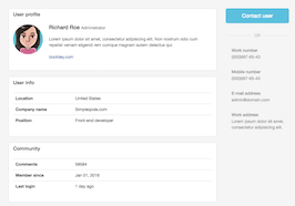 Bootstrap Seller profile example