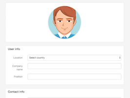 Bootstrap Edit profile page example