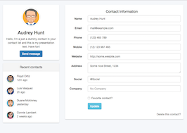 Bootstrap snippet contact details page