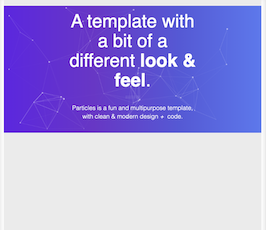 Bootstrap Particles js banner example