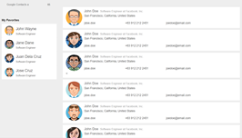 Bootstrap snippet contact management people directory