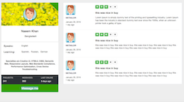Bootstrap snippets. User profile rating