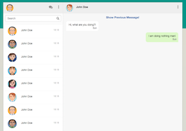 Bootstrap Whatsapp web chat template example