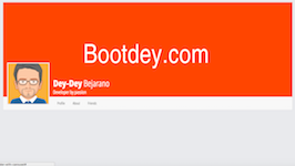 Bootstrap snippet Profile header with carousel