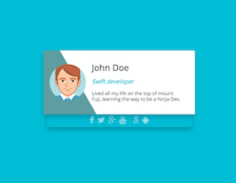 Bootstrap profile card with animation example