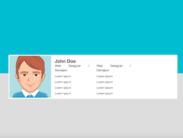 Bootstrap Profile card with header example