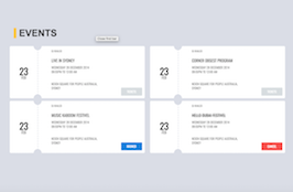 Bootstrap snippets. tickets for events