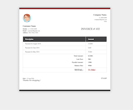 Bootstrap snippets. Invoice