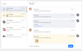 Bootstrap bs4 chat messenger example