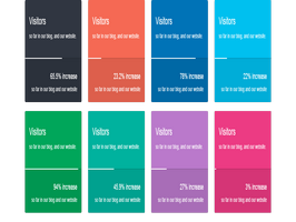 Bootstrap snippets. Bootstrap 3 colors progress bar with titles