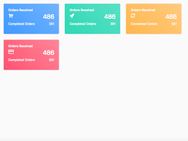 Bootstrap Gradients dashboard cards example