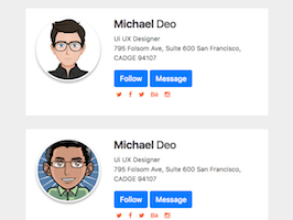 Bootstrap snippet bs4 profile header card