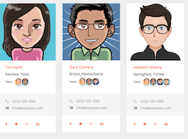 Bootstrap snippet bs4 agent cards
