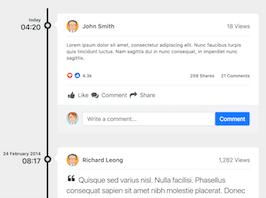 Bootstrap snippet bs4 timeline