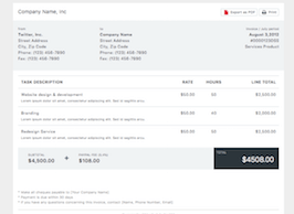 Bootstrap bs4 invoice example