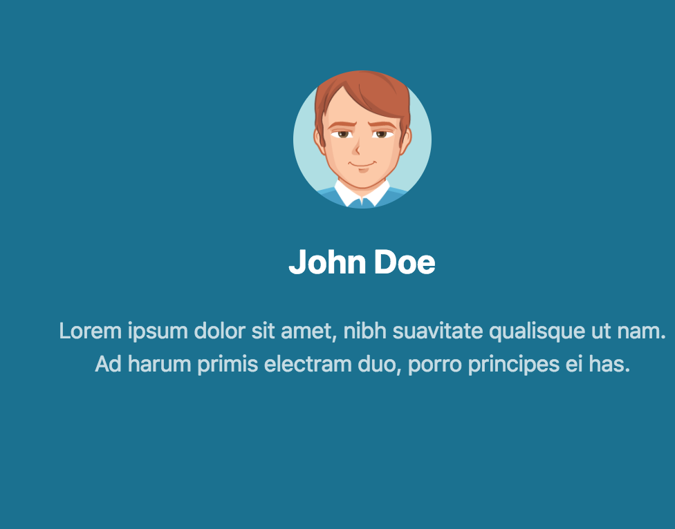 Bootstrap bs4 social profile cover example