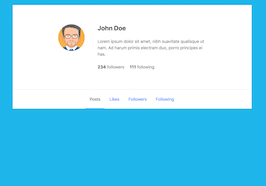 Bootstrap bs4 simple profile header example