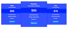 Bootstrap snippets. bs4 promo pricing table