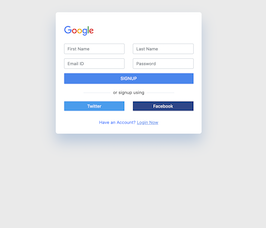 Bootstrap bs4 signup form example