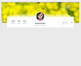 Bootstrap social network profile head example