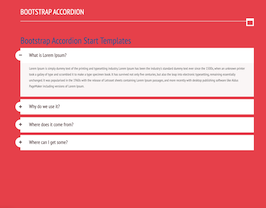 Bootstrap snippets. Bootstrap accordion Start Templates