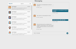 Bootstrap bs4 Message Chat Box example