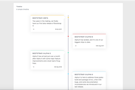 Bootstrap snippets. bs4 simple timeline
