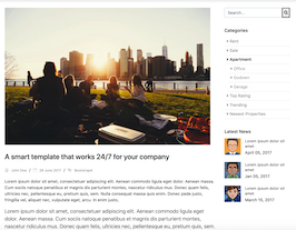 Bootstrap snippet bs4 blog post image