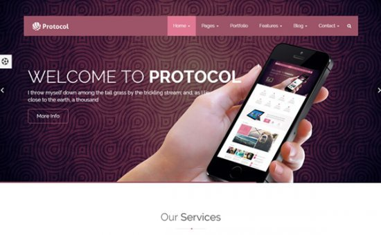 Bootstrap template Protocol Multipurpose Corporate Template