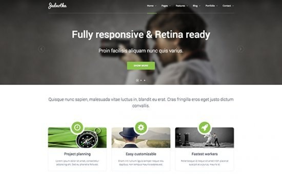 Bootstrap template Jednotka Multipurpose Website HTML Template
