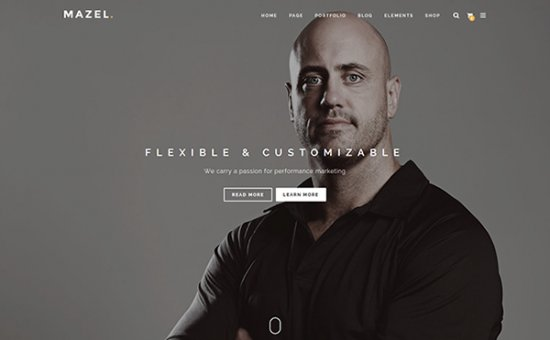 Bootstrap template Mazel Responsive Multipurpose Template