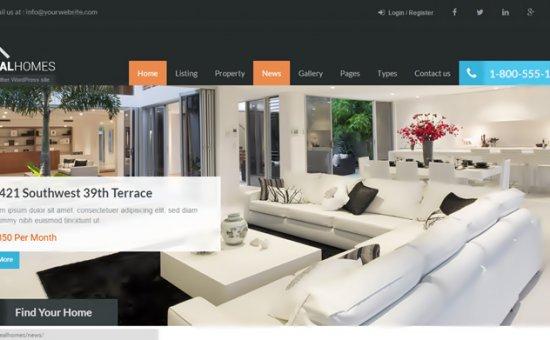 bootstrap Theme Real Homes WordPress Real Estate Theme