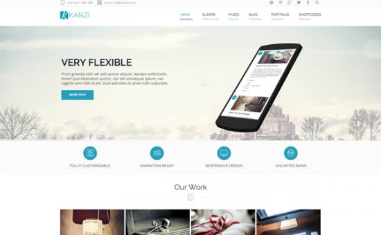Bootstrap Kanzi Multi Purpose Template template