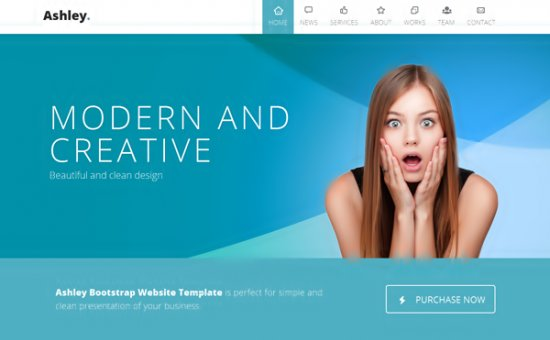 Bootstrap template Ashley One Page Parallax