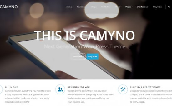 bootstrap Theme Camyno Premium WordPress Theme