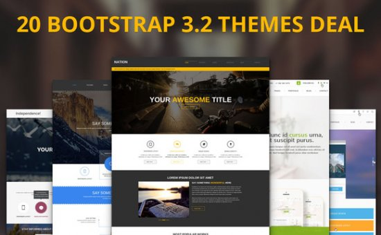 Bootstrap template 20 Premium Bootstrap Themes Deal