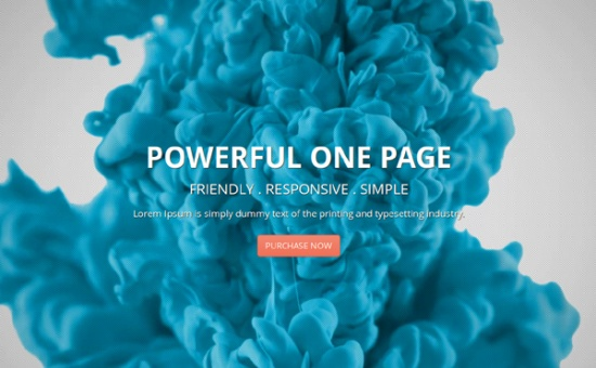 Bootstrap template Deusone Responsive One Page Bootstrap Template