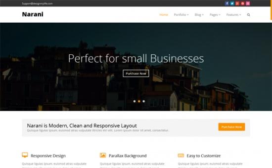 Bootstrap template NARANI Responsive Multi Layouts Theme