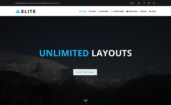 Bootstrap Elite Multi Purpose WordPress Theme template