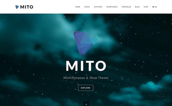 Bootstrap template Mito WordPress MultiPurpose Shop Theme